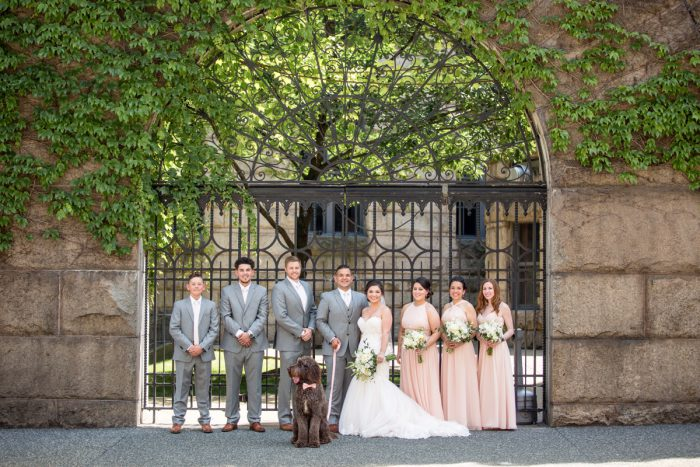 Pink and Gray Wedding: Blush Pink Outdoor Wedding at the Allegheny County Courthouse from Jenna Hidinger Photography featured on Burgh Brides