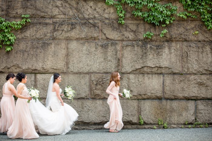 Pink Bridesmaids Dresses: Blush Pink Outdoor Wedding at the Allegheny County Courthouse from Jenna Hidinger Photography featured on Burgh Brides