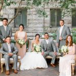 Pink and Gray Bridal Party: Blush Pink Outdoor Wedding at the Allegheny County Courthouse from Jenna Hidinger Photography featured on Burgh Brides