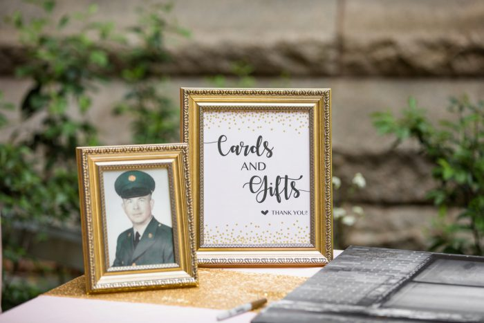 Cute Wedding Signs: Blush Pink Outdoor Wedding at the Allegheny County Courthouse from Jenna Hidinger Photography featured on Burgh Brides