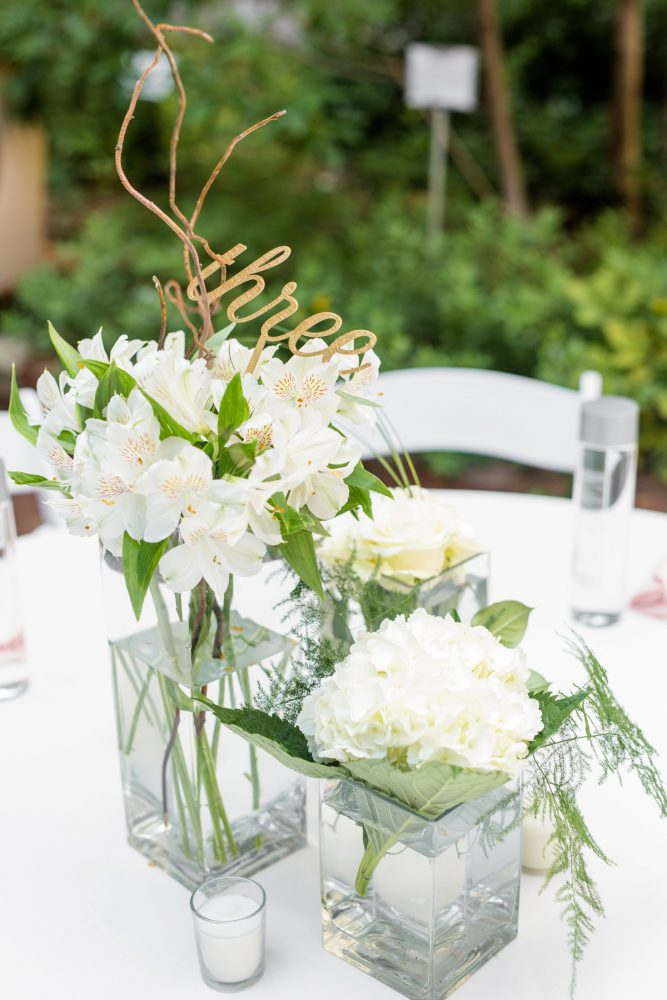 White Wedding Flowers: Blush Pink Outdoor Wedding at the Allegheny County Courthouse from Jenna Hidinger Photography featured on Burgh Brides