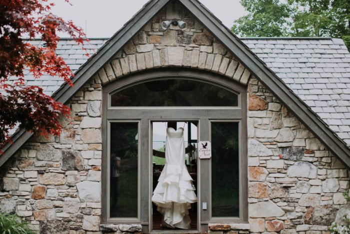 Trumpet Wedding Dress: Charming Rustic Wedding at Oak Lodge from All Heart Photo & Video featured on Burgh Brides
