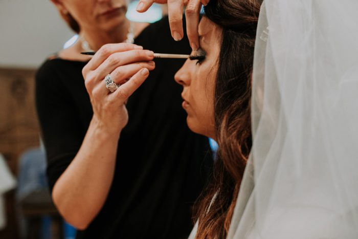 Bridal Makeup: Charming Rustic Wedding at Oak Lodge from All Heart Photo & Video featured on Burgh Brides