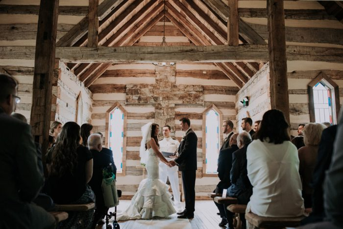 Wooden Wedding Ceremony Ideas: Charming Rustic Wedding at Oak Lodge from All Heart Photo & Video featured on Burgh Brides