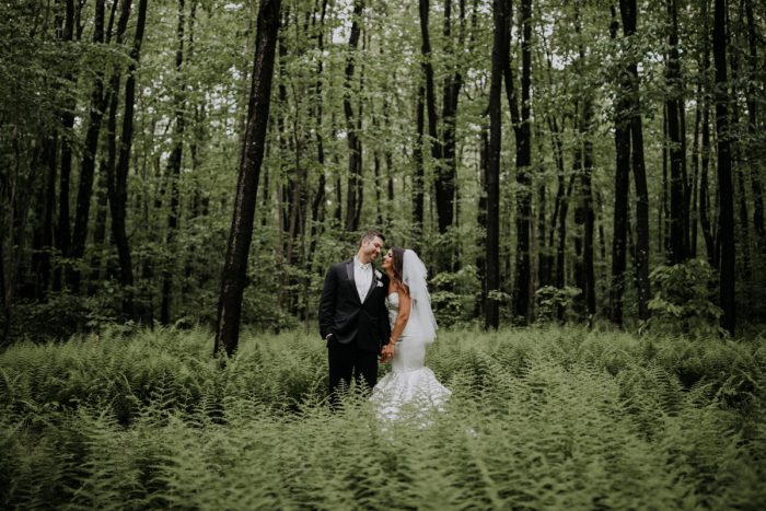Woodsy Bride and Groom Wedding Day Photos: Charming Rustic Wedding at Oak Lodge from All Heart Photo & Video featured on Burgh Brides