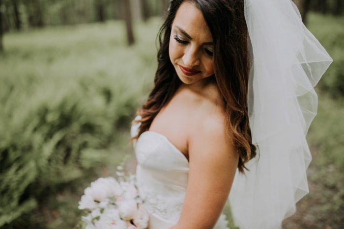 Hair Down Bridal Hair Ideas: Charming Rustic Wedding at Oak Lodge from All Heart Photo & Video featured on Burgh Brides
