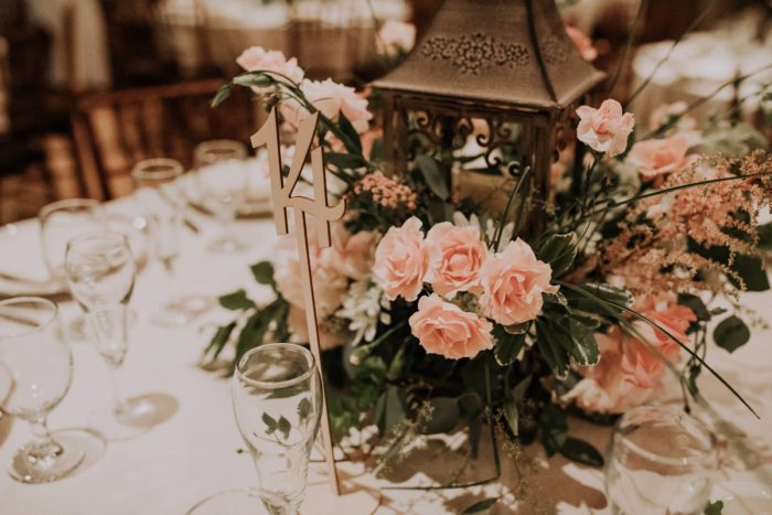 Lantern Wedding Centerpiece Ideas: Charming Rustic Wedding at Oak Lodge from All Heart Photo & Video featured on Burgh Brides