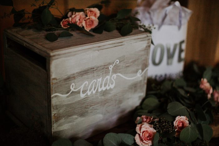 Wooden Wedding Card Box: Charming Rustic Wedding at Oak Lodge from All Heart Photo & Video featured on Burgh Brides
