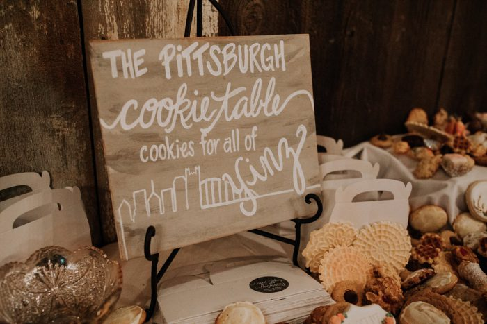 Pittsburgh Cookie Table Ideas: Charming Rustic Wedding at Oak Lodge from All Heart Photo & Video featured on Burgh Brides