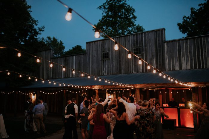 Wedding Lighting Ideas: Charming Rustic Wedding at Oak Lodge from All Heart Photo & Video featured on Burgh Brides