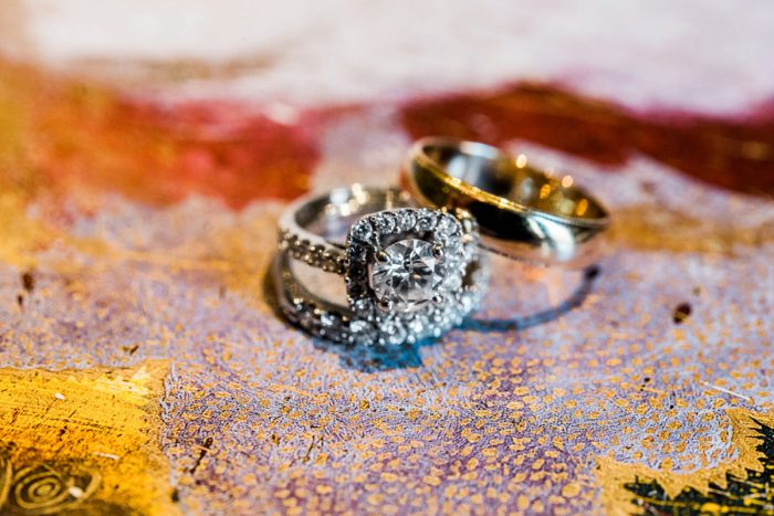 Square Cut Diamond Ring: Fun Whimsical Wedding from Sky's the Limit Photography featured on Burgh Brides