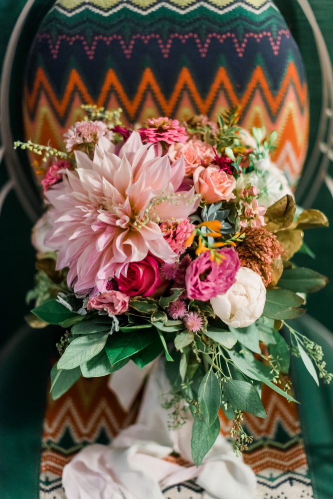 Pink Wedding Bouquet: Fun Whimsical Wedding from Sky's the Limit Photography featured on Burgh Brides