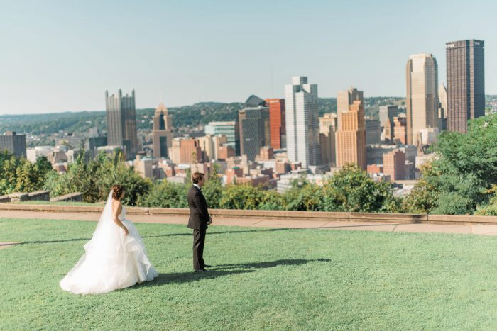 First Look Session: Fun Whimsical Wedding from Sky's the Limit Photography featured on Burgh Brides