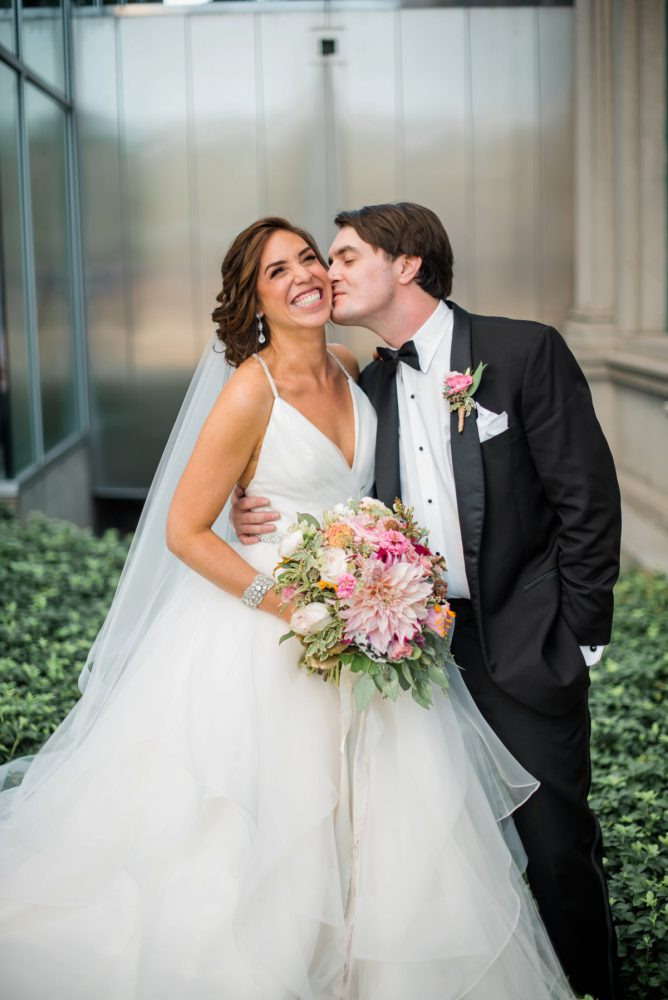 Bride and Groom: Fun Whimsical Wedding from Sky's the Limit Photography featured on Burgh Brides