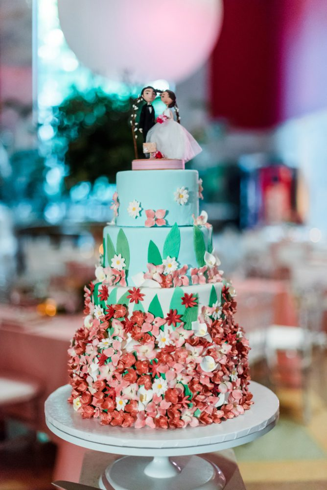Whimsical Wedding Cake: Fun Whimsical Wedding from Sky's the Limit Photography featured on Burgh Brides