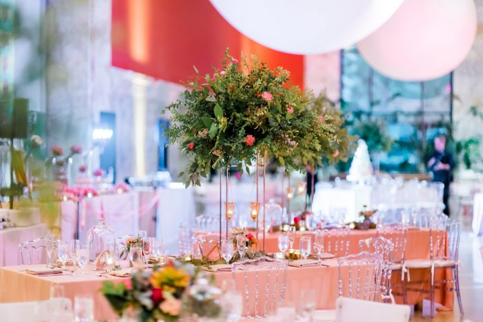 Fern Wedding Centerpieces: Fun Whimsical Wedding from Sky's the Limit Photography featured on Burgh Brides