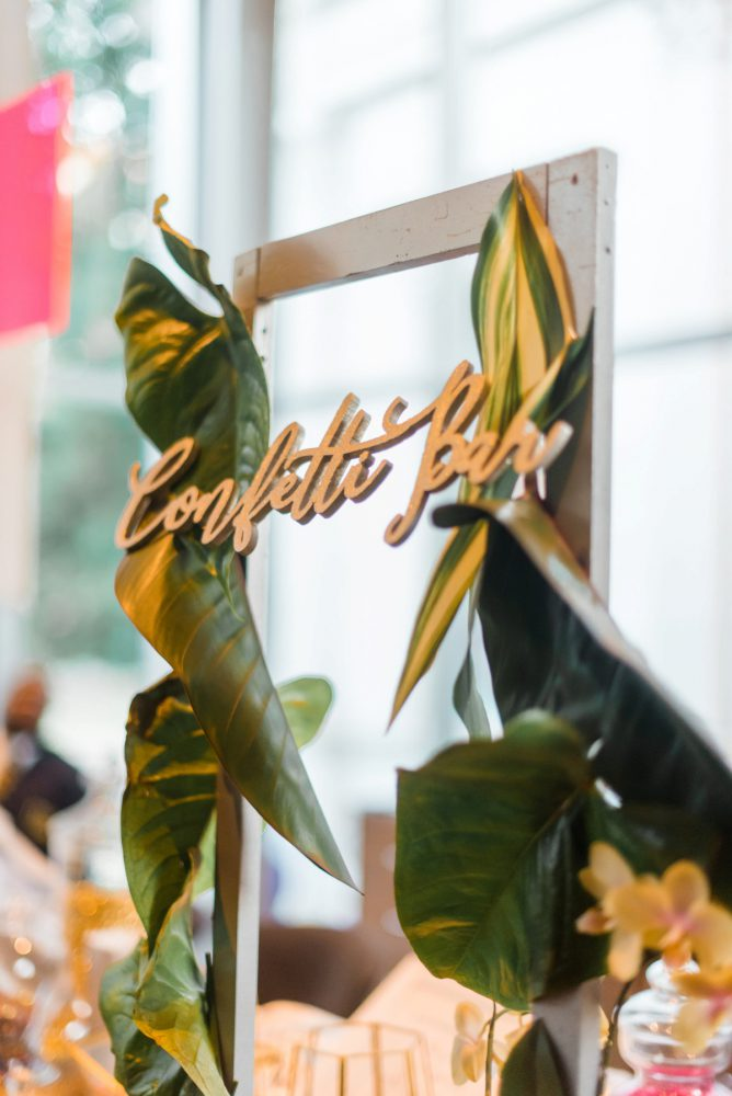 Confetti Bar: Fun Whimsical Wedding from Sky's the Limit Photography featured on Burgh Brides