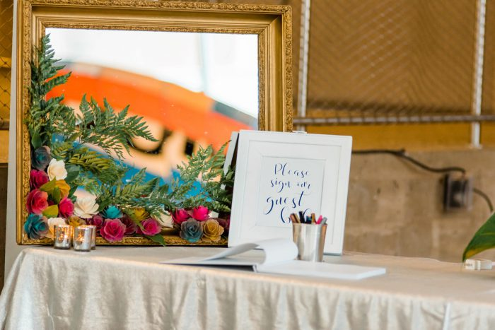 Wedding Guest Book: Fun Whimsical Wedding from Sky's the Limit Photography featured on Burgh Brides