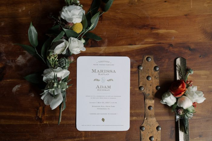 Minimalist Wedding Invitations: Low Key Wedding with a Super Cool Vibe from Whitling Photography featured on Burgh Brides