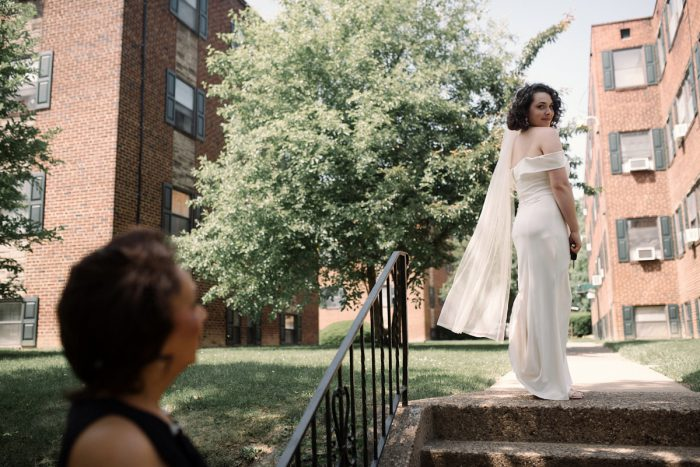 Wedding Veil: Low Key Wedding with a Super Cool Vibe from Whitling Photography featured on Burgh Brides