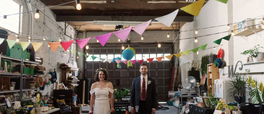 Low Key Wedding with a Super Cool Vibe: Marissa & Adam