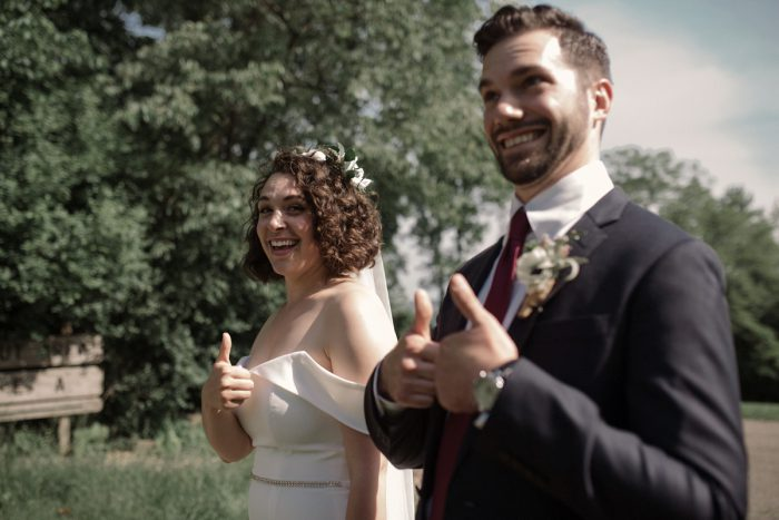 Low Key Wedding with a Super Cool Vibe from Whitling Photography featured on Burgh Brides