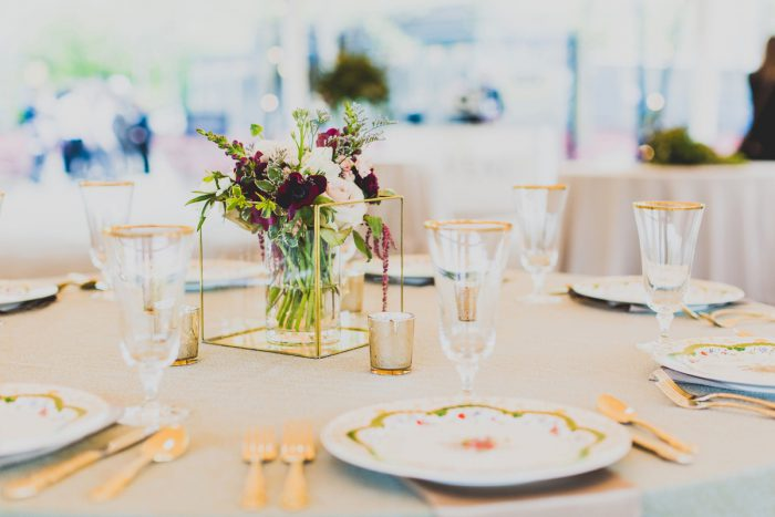 Wedding Centerpieces: A Schenley Plaza Wedding: ReVeal Pittsburgh by Ryan Zarichnak Photography featured on Burgh Brides