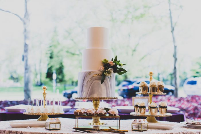 Marble Wedding Cake: A Schenley Plaza Wedding: ReVeal Pittsburgh by Ryan Zarichnak Photography featured on Burgh Brides