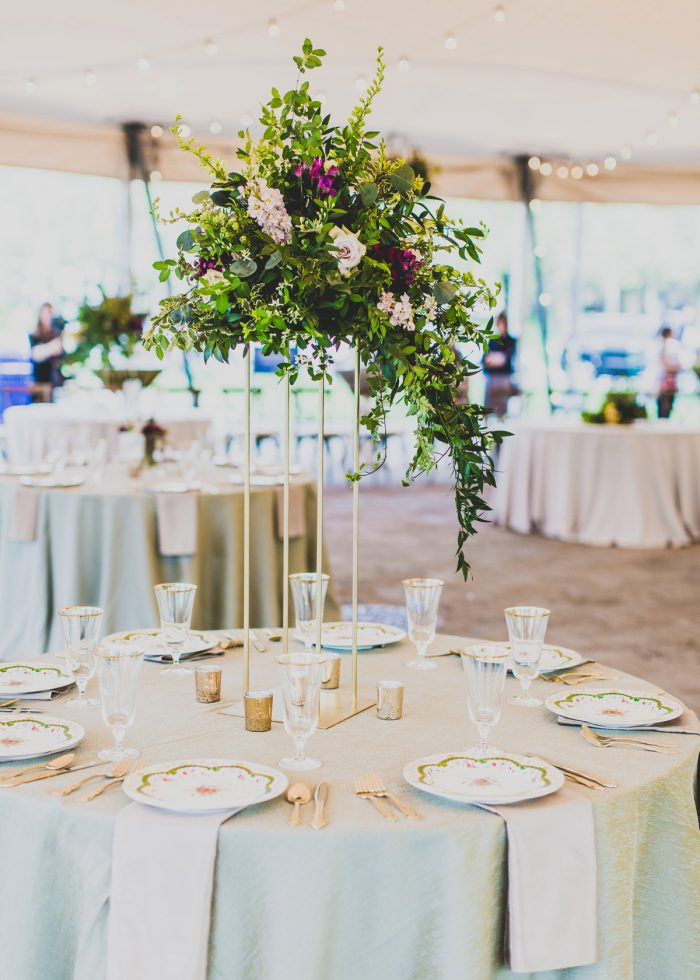 Elevated Wedding Centerpieces: A Schenley Plaza Wedding: ReVeal Pittsburgh by Ryan Zarichnak Photography featured on Burgh Brides