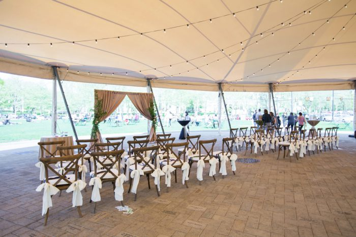Wedding Ceremony Set Up: A Schenley Plaza Wedding: ReVeal Pittsburgh by Weddings by Alisa featured on Burgh Brides