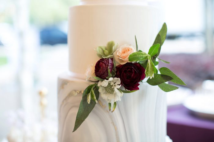 Wedding Cake Flowers: A Schenley Plaza Wedding: ReVeal Pittsburgh by Weddings by Alisa featured on Burgh Brides