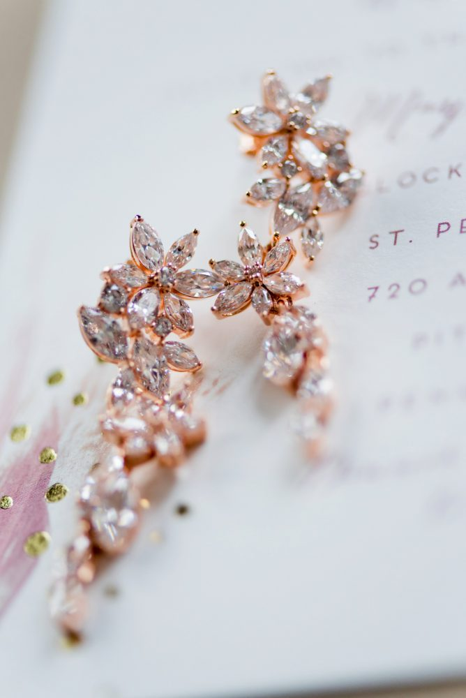 Rose Gold Bridal Accessories: Soft Romantic Wedding at the Renaissance from Leeann Marie, Wedding Photographers featured on Burgh Brides