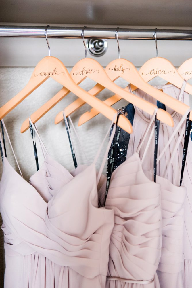Bridesmaids Hangers: Soft Romantic Wedding at the Renaissance from Leeann Marie, Wedding Photographers featured on Burgh Brides