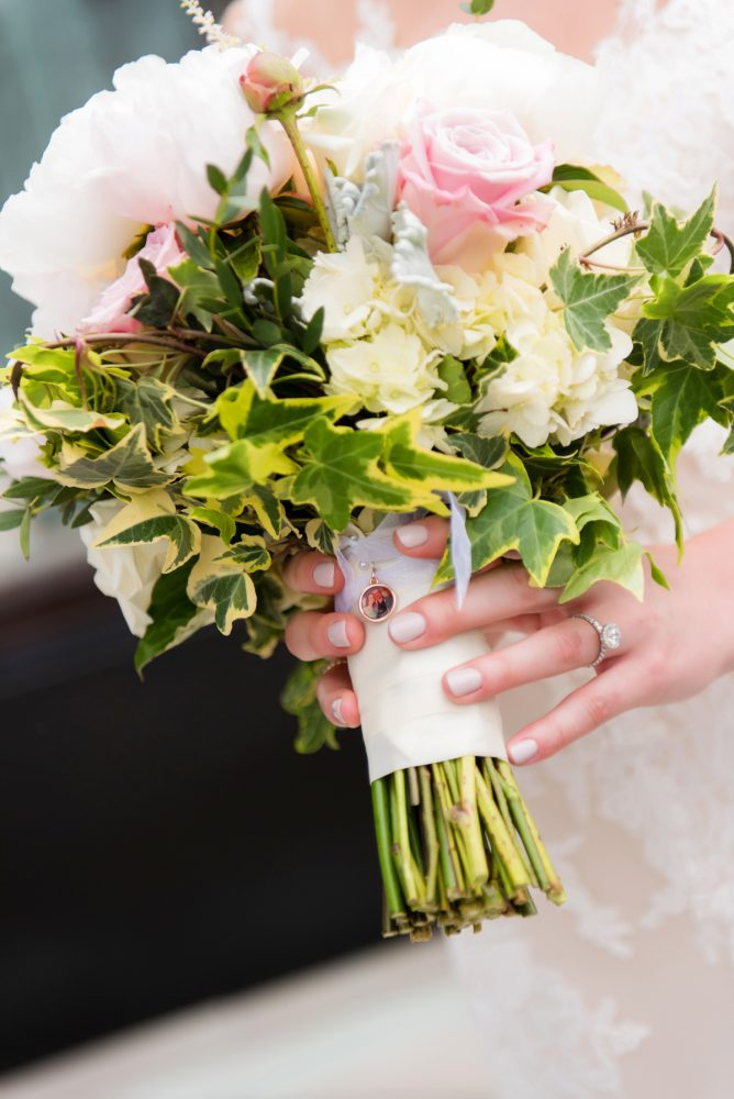 Bridal Bouquet Locket: Soft Romantic Wedding at the Renaissance from Leeann Marie, Wedding Photographers featured on Burgh Brides
