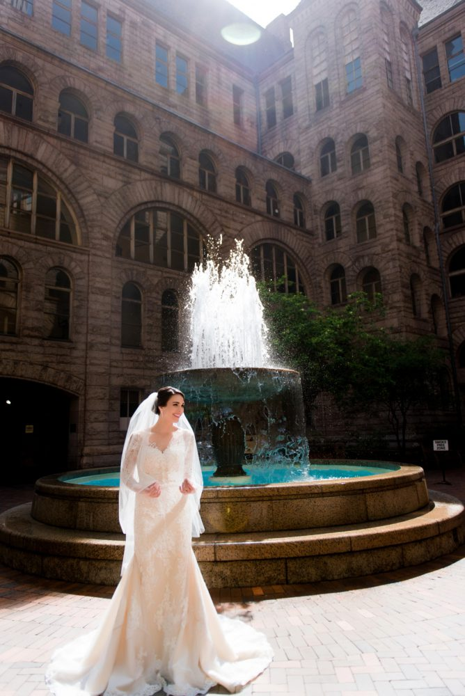 Long Sleeve Lace Wedding Dress: Soft Romantic Wedding at the Renaissance from Leeann Marie, Wedding Photographers featured on Burgh Brides
