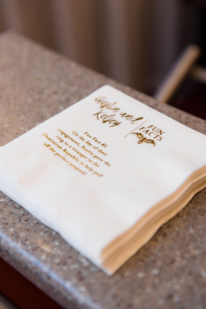 Fun Wedding Cocktail Napkins: Soft Romantic Wedding at the Renaissance from Leeann Marie, Wedding Photographers featured on Burgh Brides