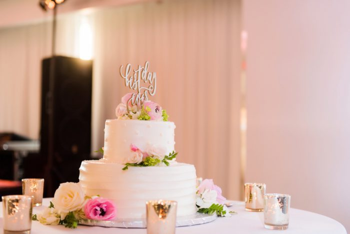 White and Pink Wedding Cake: Soft Romantic Wedding at the Renaissance from Leeann Marie, Wedding Photographers featured on Burgh Brides