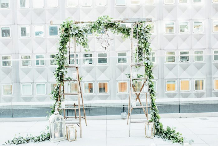Wedding Ceremony Ideas: Surprise Rooftop Proposal at Hotel Monaco from Exhale Events and Abbie Tyler Photography featured on Burgh Brides