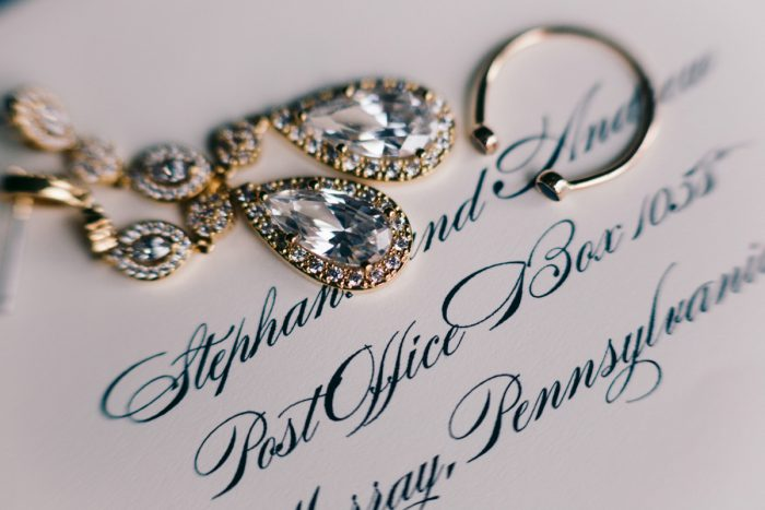Bridal Accessories: Gold Wedding Invitations: Timeless Gold & White Wedding from Steven Dray Images featured on Burgh Brides