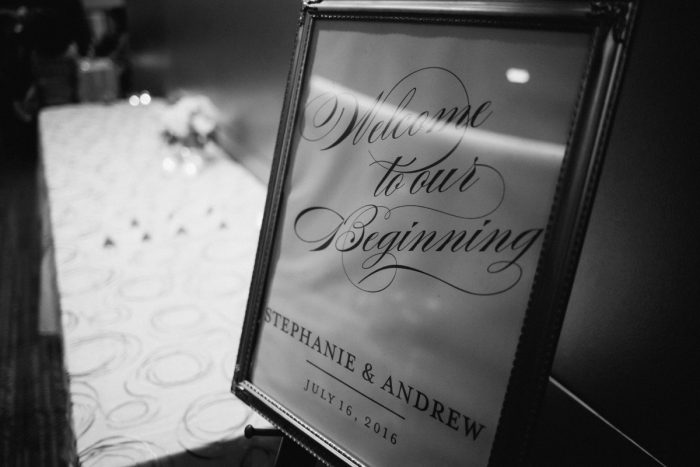 Wedding Welcome Sign: Gold Wedding Invitations: Timeless Gold & White Wedding from Steven Dray Images featured on Burgh Brides