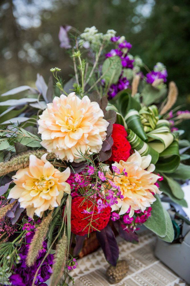 Colorful Wedding Flowers: Versatile Vintage Inspired Wedding Styled Shoot featured on Burgh Brides