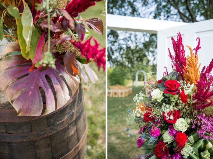 Antique Barrel Wedding Ceremony Set Up: Versatile Vintage Inspired Wedding Styled Shoot featured on Burgh Brides