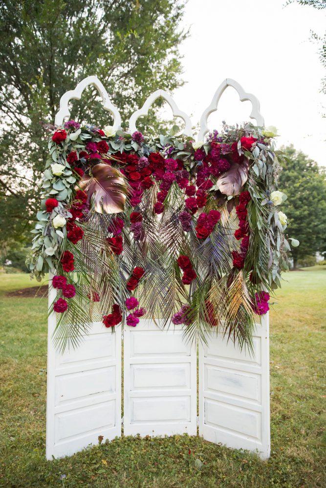 Dramatic Wedding Flowers: Versatile Vintage Inspired Wedding Styled Shoot featured on Burgh Brides