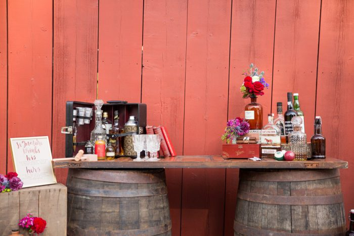 Vintage Bar Set Up: Versatile Vintage Inspired Wedding Styled Shoot featured on Burgh Brides