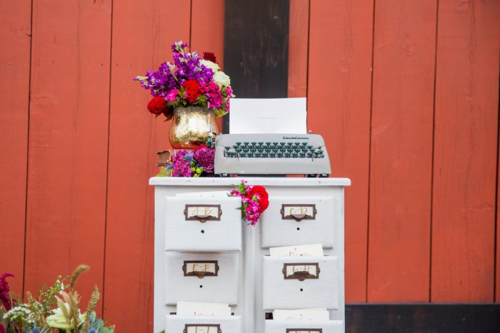 Antique Typewriter at Wedding: Versatile Vintage Inspired Wedding Styled Shoot featured on Burgh Brides