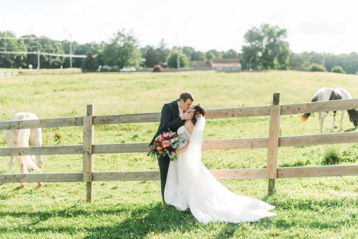 Farm Wedding Photos: Vibrant Whimsical Wedding at Rustic Acres Farm from Dawn Derbyshire Photography featured on Burgh Brides