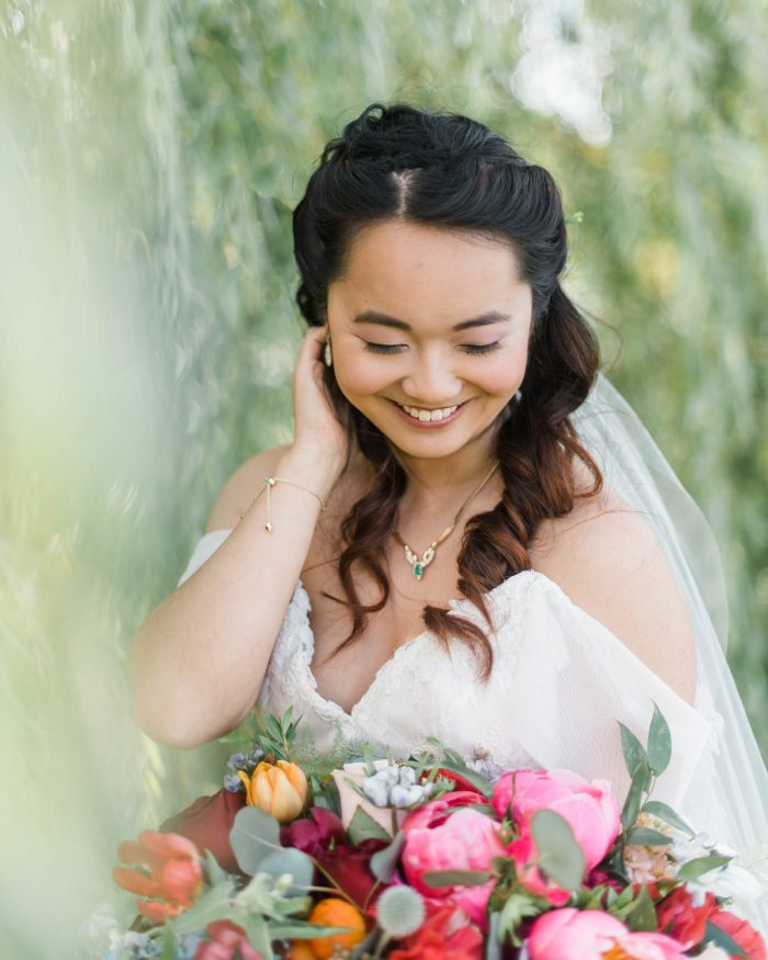 Bridal Makeup: Vibrant Whimsical Wedding at Rustic Acres Farm from Dawn Derbyshire Photography featured on Burgh Brides