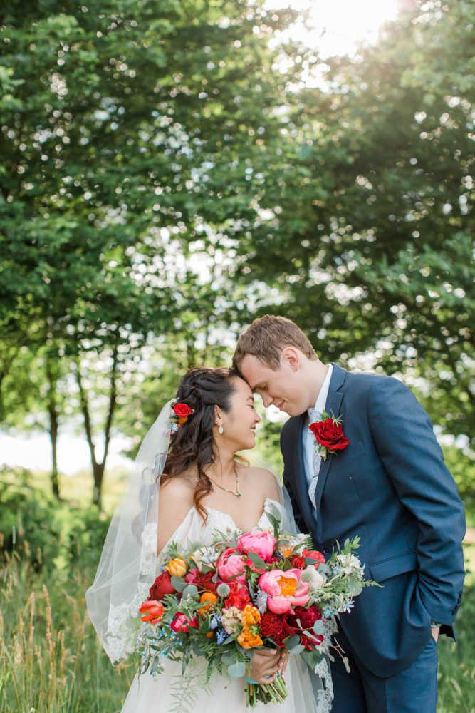Bridal Portraits: Vibrant Whimsical Wedding at Rustic Acres Farm from Dawn Derbyshire Photography featured on Burgh Brides