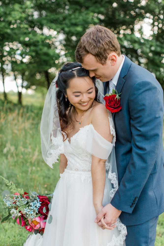 Whimsical Wedding Portraits: Vibrant Whimsical Wedding at Rustic Acres Farm from Dawn Derbyshire Photography featured on Burgh Brides