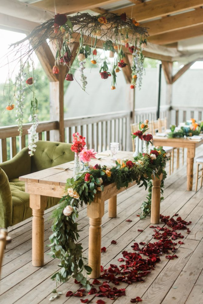 Sweetheart Table Ideas: Vibrant Whimsical Wedding at Rustic Acres Farm from Dawn Derbyshire Photography featured on Burgh Brides